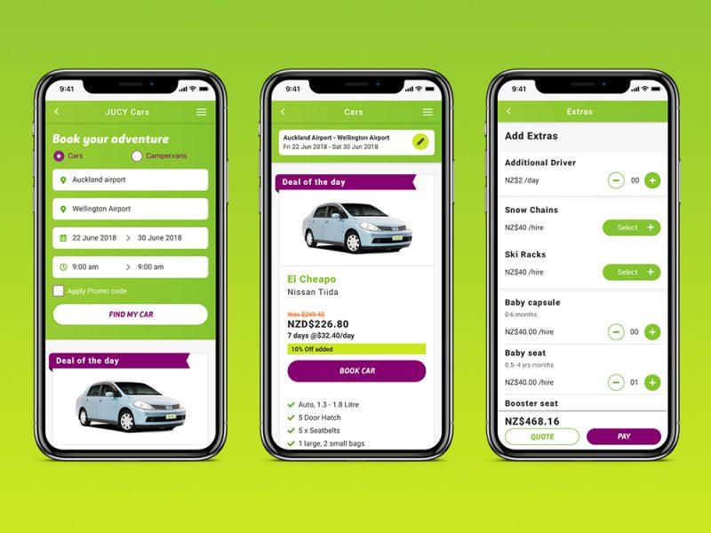 Jucy Rentals Car Booking